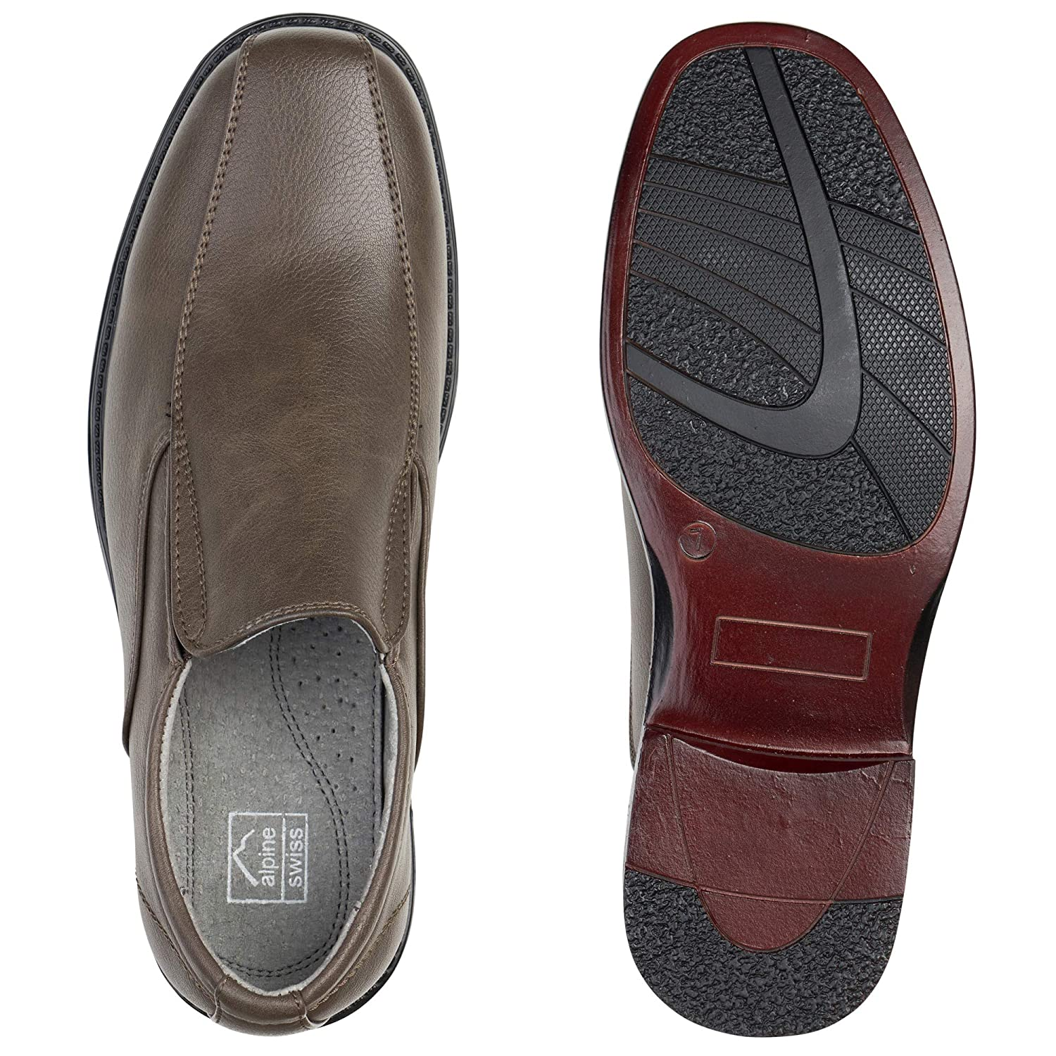 143d06ff78d4 Alpine Swiss Mens Dress Shoes Leather Lined Slip on Loafers  Amazon.ca   Shoes   Handbags