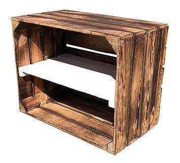 Juego de 3 gefla Naturaleza Caja de madera decorado con medio Tabla – Frontal de flambierte