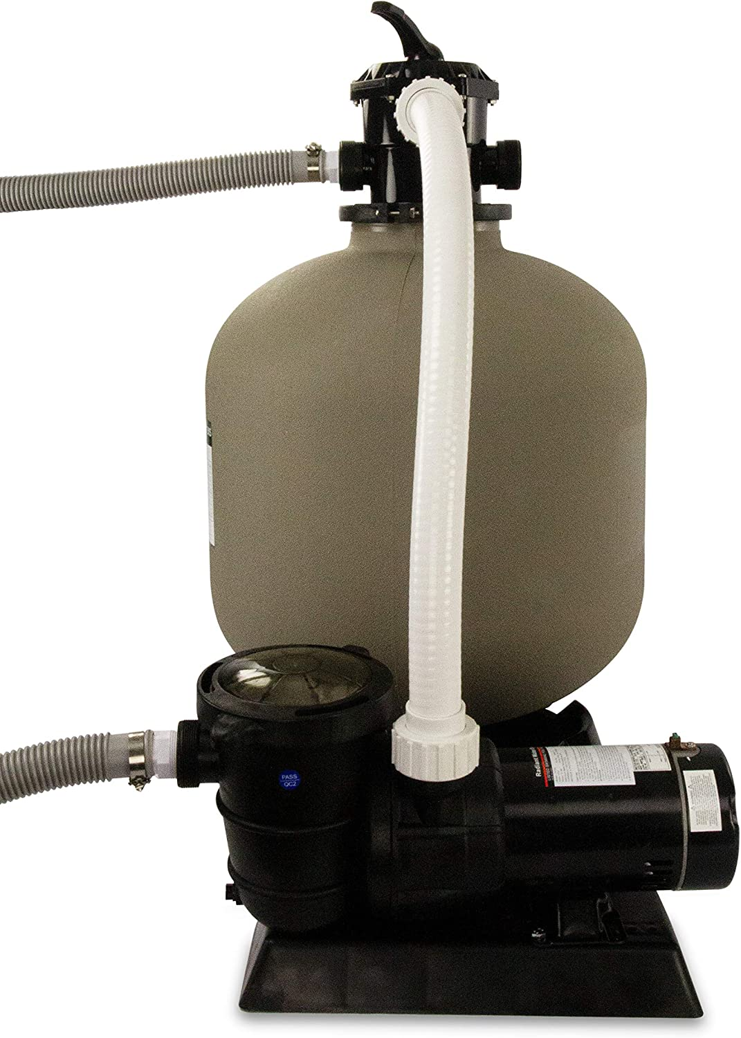 for Above Ground Swimming Pool 22 Inch Tank 220 Lb Sand Capacity Extreme Niagara 1.5 HP Pump Up to 26,000 Gallons Rx Clear Radiant Complete Sand Filter System