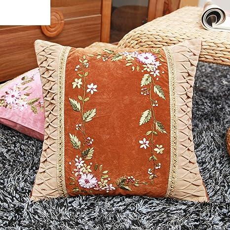 Almohadilla del bordado de la cinta/Cojín flor ...