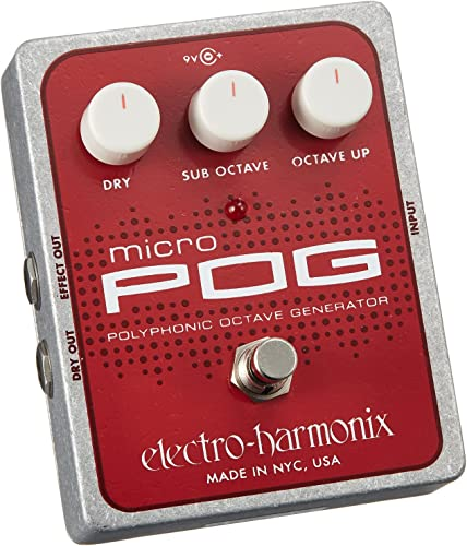 Electro Harmonix Micro POG Polyphonic Octave Generator Guitar Effects Pedal