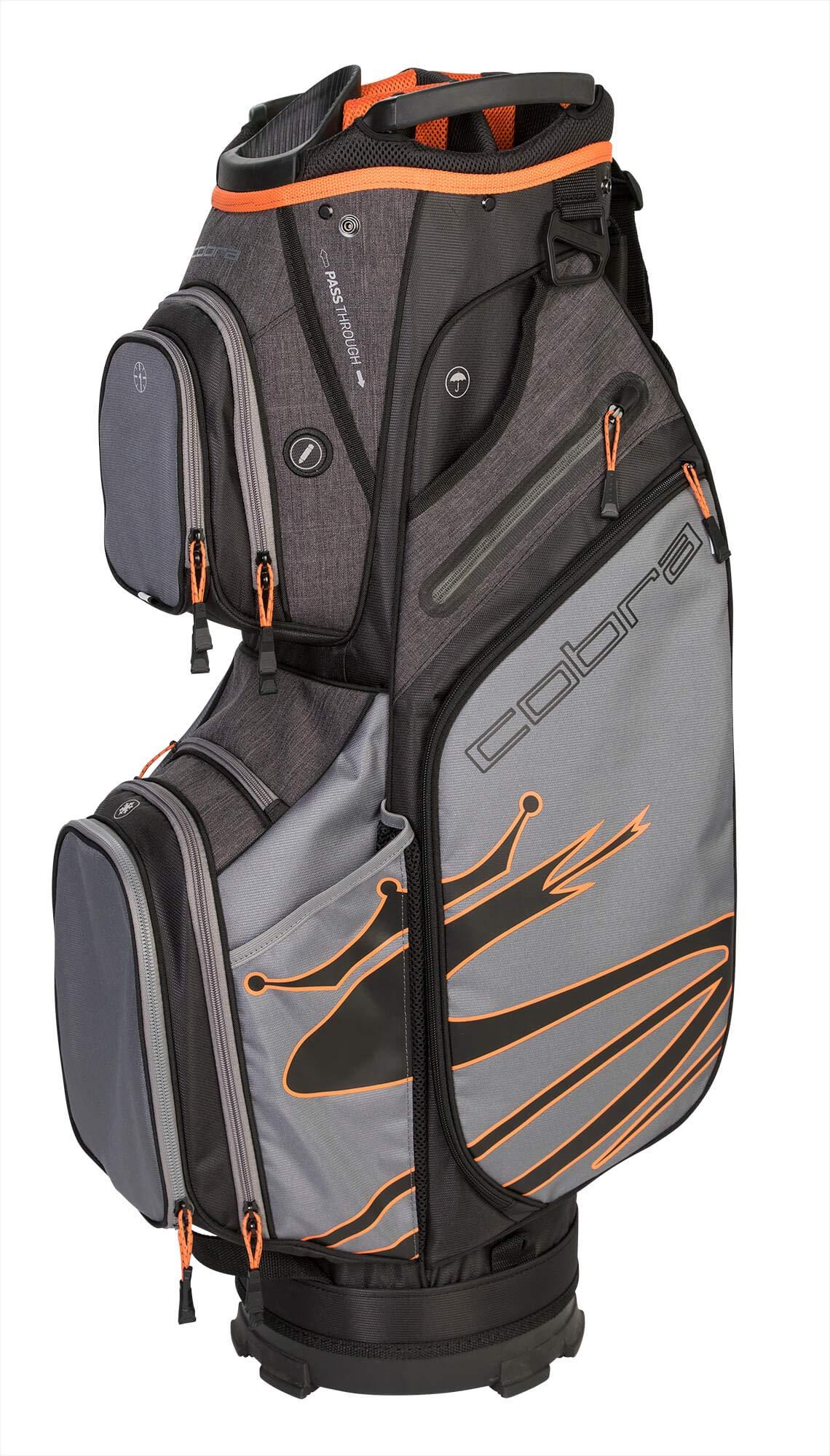 Cobra Golf 2019 Ultralight Cart Bag (Black-Orange)