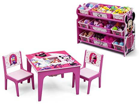 Delta Children Disney Minnie Mouse Table and Chair Set with Storage and Disney Minnie Mouse 9  sc 1 st  Amazon.com & Amazon.com: Delta Children Disney Minnie Mouse Table and Chair Set ...