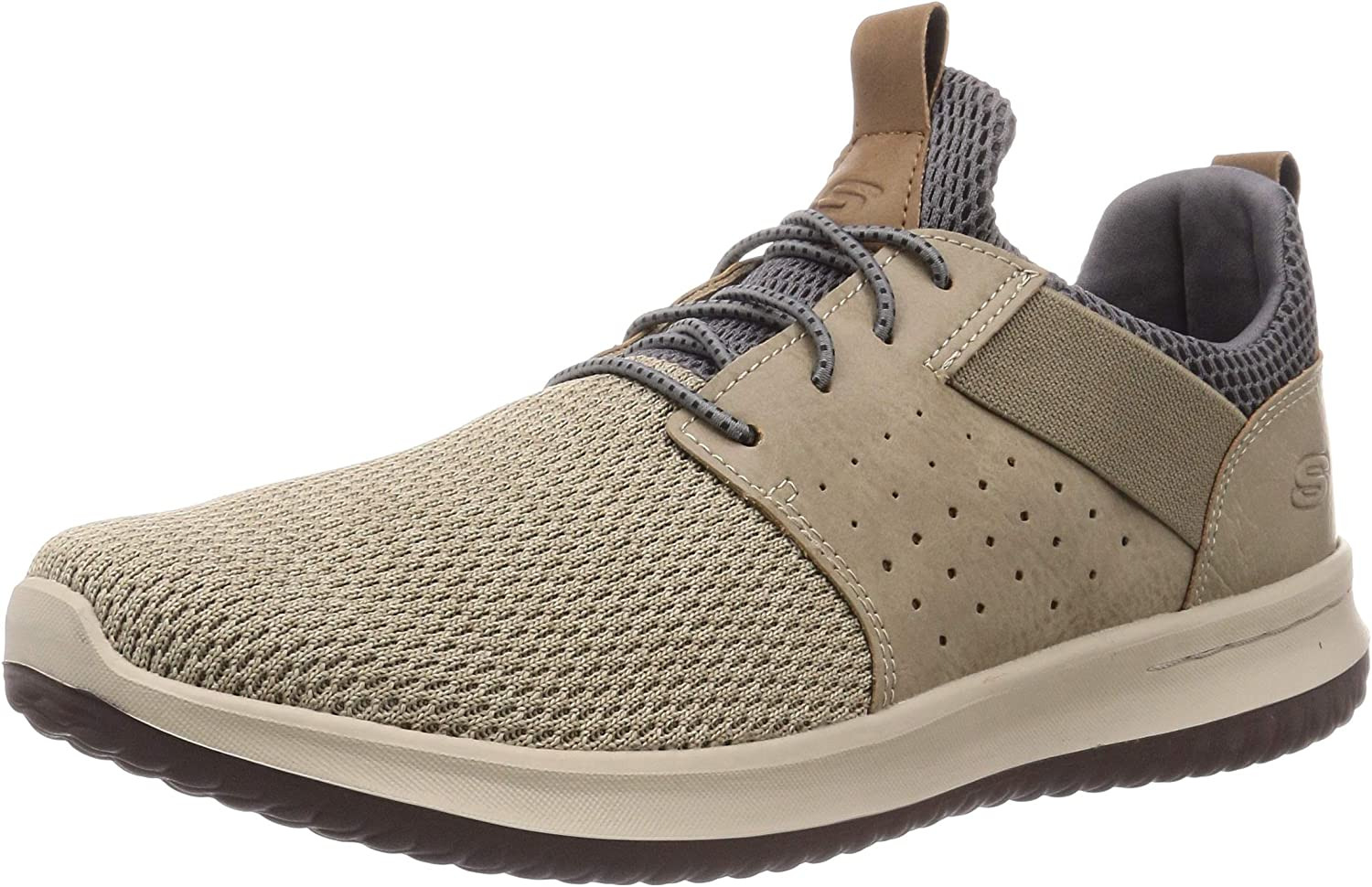 Skechers Classic Fit Delson Camden, Men's Sneakers, Taupe QXgwh