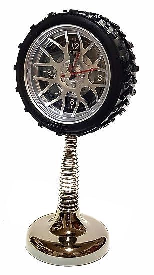Amazon De Quarz Wecker Uhr Tischuhr Reifen Auto Felgen Federuhr