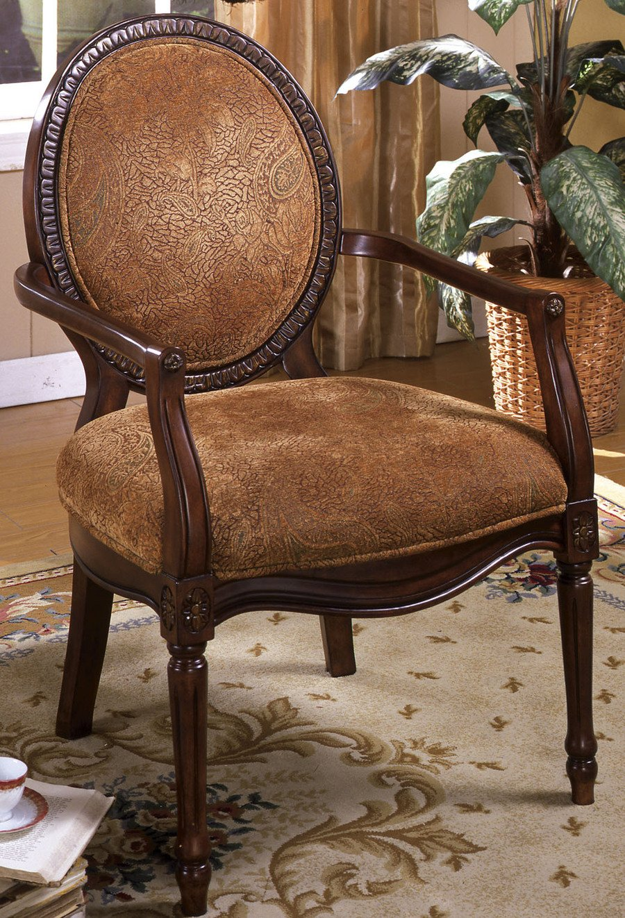 247SHOPATHOME IDF-AC6116 Armchairs, Brown