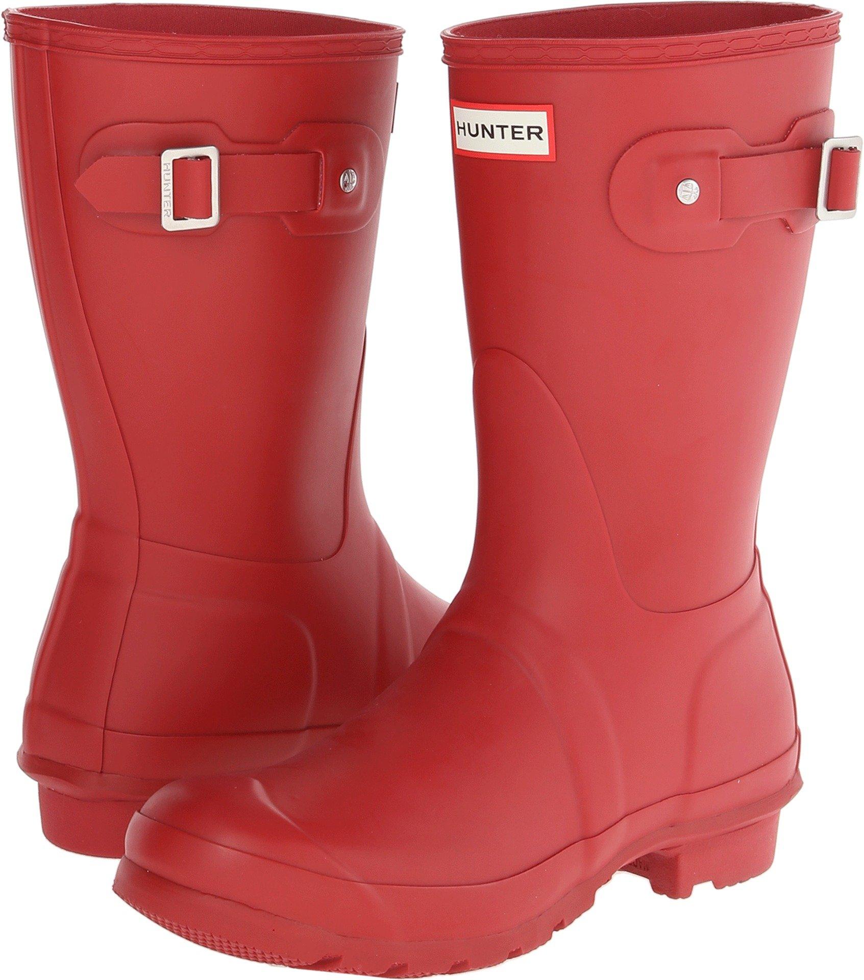Hunter Womens Original Short Military Red Rain Boot - 9 B(M) US