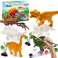 Arts and Crafts for Kids Painting Kit, Dinosaur Toys Crafts for Kids Age 4-8 Years Old Supplies Party Favors for Boys Girls Fun DIY Creative Activity Birthday Gift
