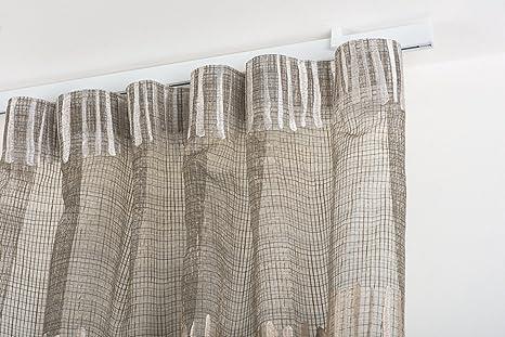 Binari Tende A Soffitto : Incasa binario per tende 32x12mm l. 260 cm. laccato bianco