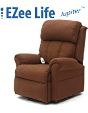 EZee Life Lift Chair Recliner - Infinite Position Dual Motor - Jupiter Brown