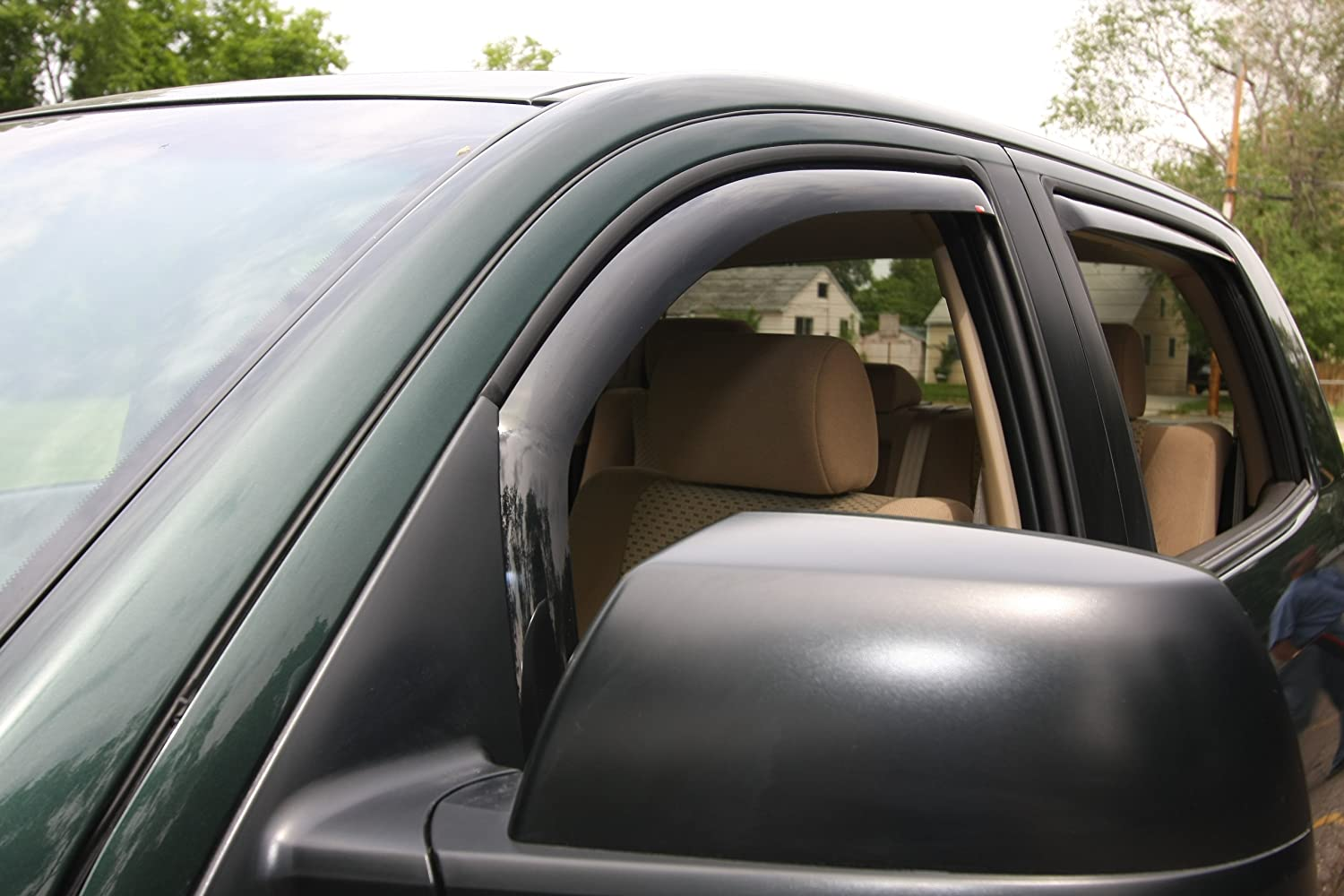 4-Piece Set Smoke Tint, Wade 72-35491 in-Channel Wind Deflectors