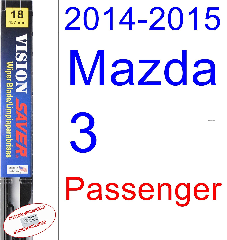 Amazon.com: 2014-2015 Mazda 3 Wiper Blade (Driver) (Saver Automotive Products-Vision Saver): Automotive