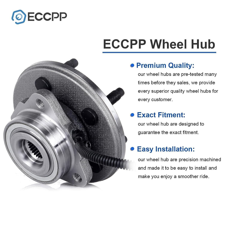 515050 x2 ECCPP Wheel Hub Bearing Assembly Ford Explorer Mercury Mountaineer 2002-2005 4WD 5 Lugs W// ABS