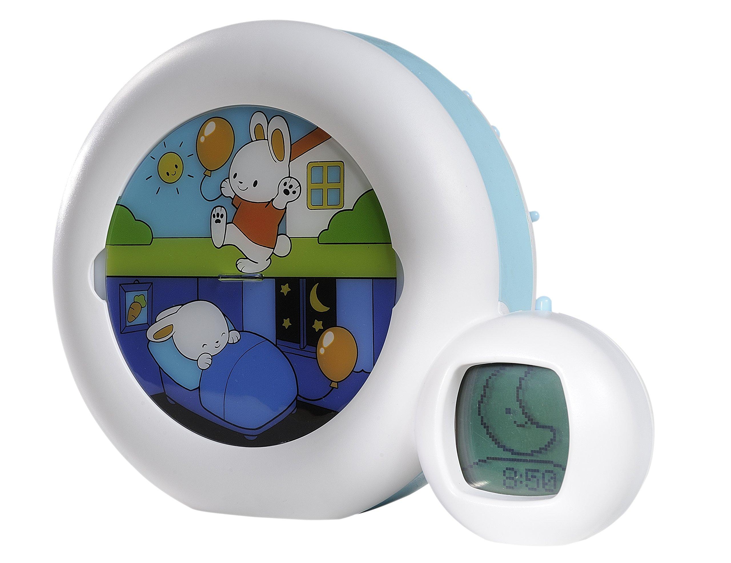 Claessens' Kids Kid'Sleep Moon Sleeptrainer Nightlight, White/Blue
