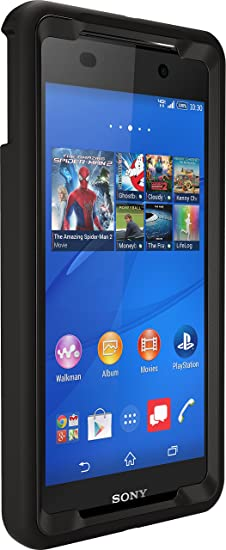 online retailer 910b8 092aa OtterBox Defender Case for Sony Xperia Z3V - Retail Packaging - Black  (Black/Black)