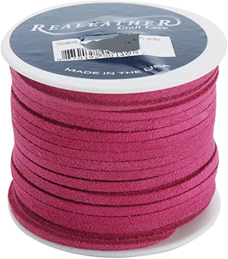"Realeather Crafts Suede Lace .125/""X25yd Spool-Red"