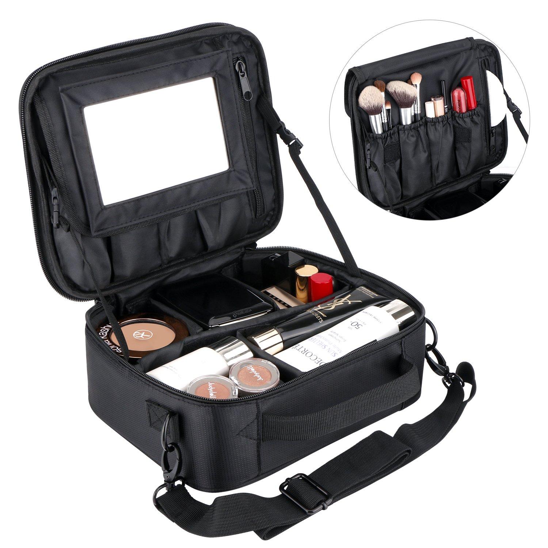 Borsa Cosmetica, Professionale Trucchi Borsa da viaggio per Donne Ragazze Trucco Organizzatore Sacchetti di Stoccaggio con velcro Specchio LC-dolida