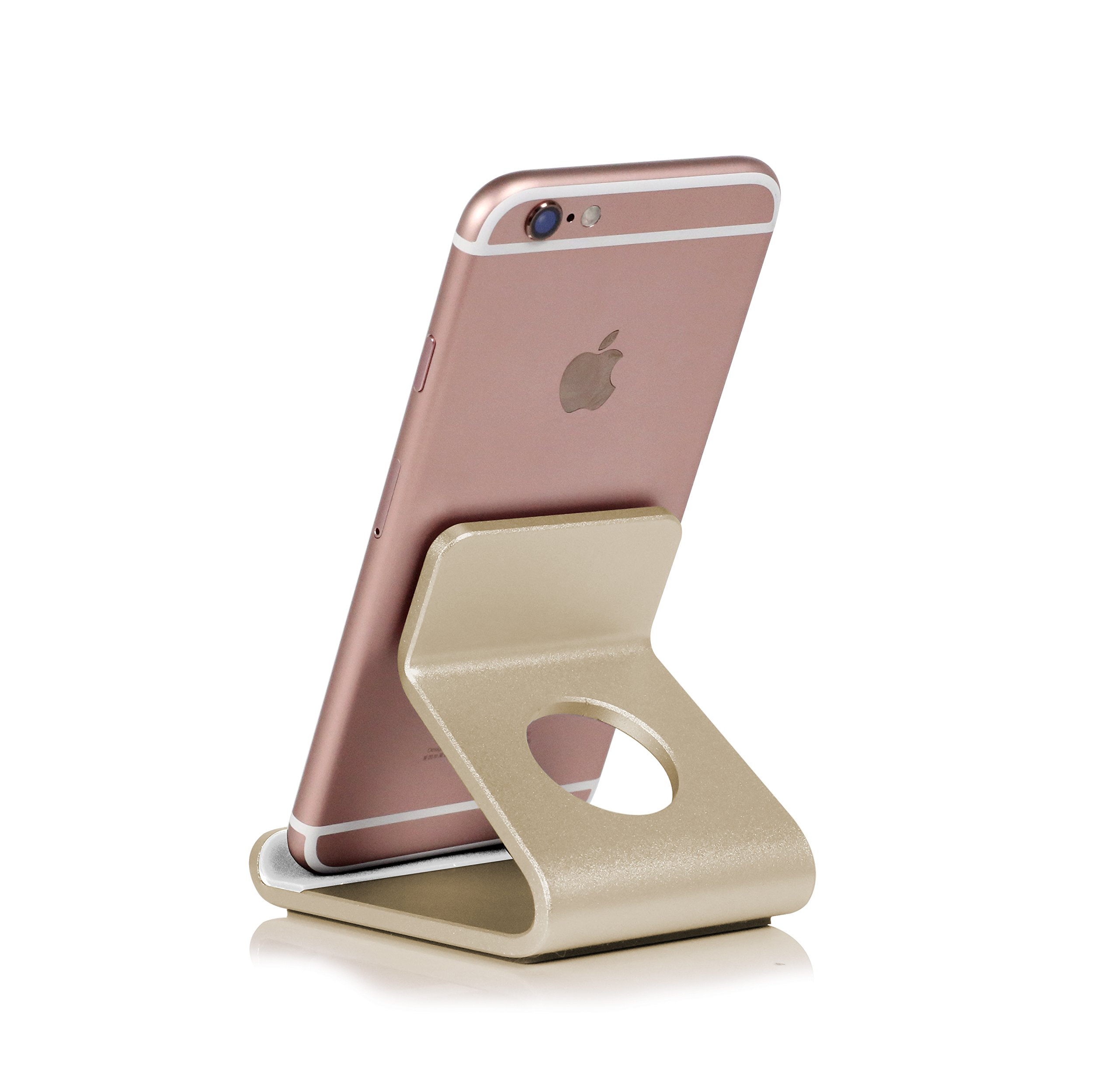 Cell Phone Stand, Tablet Stand, Mobile Phone Holder Dock Cradle Smartphone Aluminum Alloy Stand For Switch Universal, for all Android Phone,iPhone5 6 7 8 X Plus, iPad, charging Accessories (XWJ-0601G)