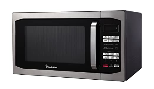 Magic Chef MCM1611W 1100W Oven, 1.6 cu. ft, White Microwave,