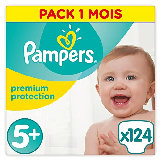 474 opinioni per Pampers Premium Protection Taglia 5+, 1er Pack (1X 124pezzi)