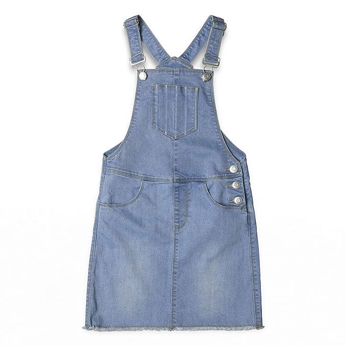 Esprit Denim Bib Skirt, Falda para Niñas: Amazon.es: Ropa y accesorios