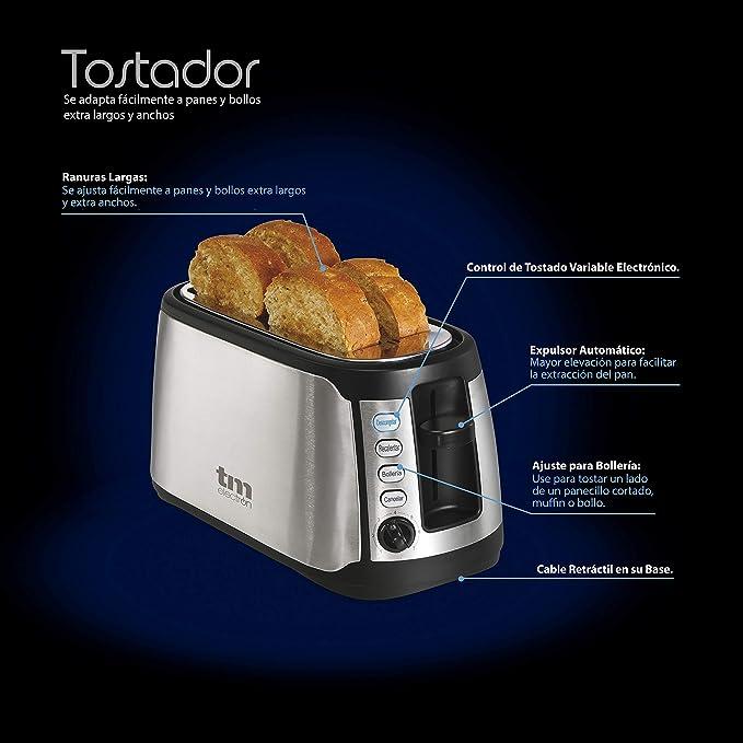 TM Electron to TMPTS005 Tostador de acero inoxidable con ranuras ...