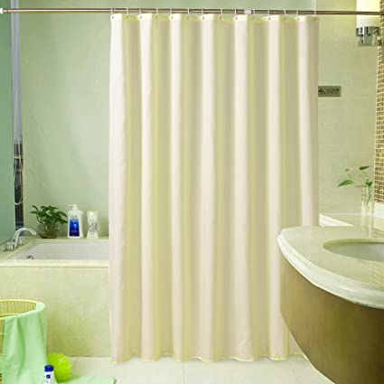 Sfoothome Hotel Fabric Heavy Weight Shower Curtain Waterproof Mildew Free Bath CurtainsSmall Size 36 Inch Wide X 72 Long Pure White Unique