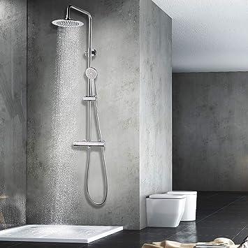 Elbe sistema de ducha de acero inoxidable, pilar de ducha ...