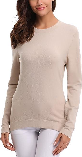Abollria Womens Lightweight Long Sleeve V Neck Top Jumper Pullover Knitwear T Shirt