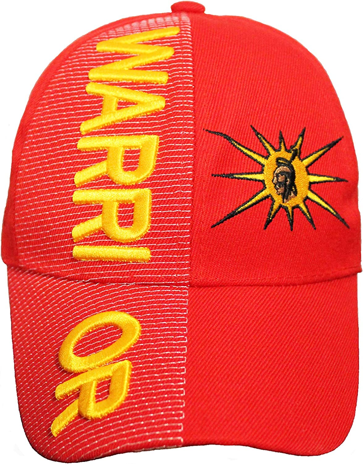 Warrior with Mohawk Logo Red Embossed HAT Cap.New