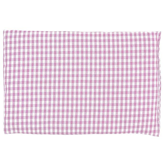Almohada térmica de semillas 30x20cm (algodón orgánico rosa y ...
