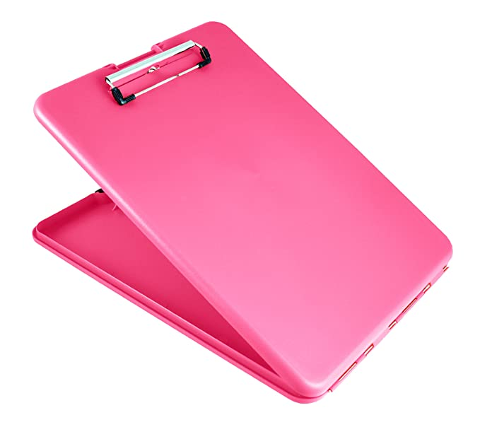 Saunders SlimMate Plastic Storage Clipboard, Letter Size, 8.5 x 12 Inch, Pink (00835)