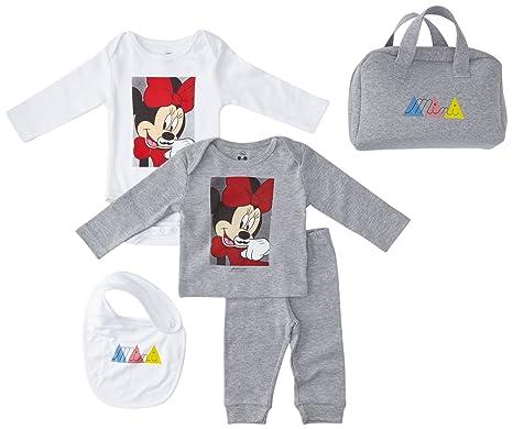 Eleven Paris Baby Girls Mini Pack Minnie Romper Suit Grey Gris