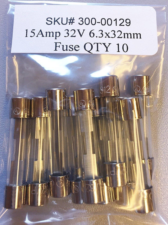 AGC 8 AMP 32 VOLT FAST BLOW FUSE 3AG BUSSMAN 5 PACK