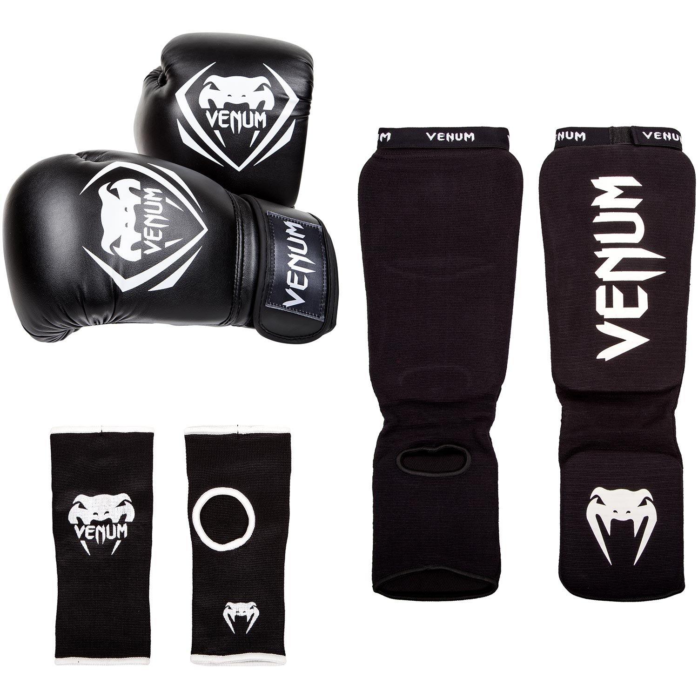 Venum Contender Set de Boxeo, Unisex Adulto, Negro, 10oz EU-VENUM-1387-10oz
