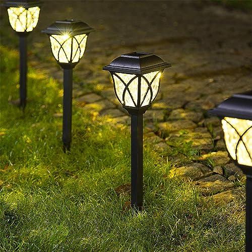 Solpex Solar Pathway Lights Outdoor, LED Solar Garden Lights, Waterproof Solar Landscape Lights for Lawn, Patio, Yard, Garden, Walkway. 6 Pack