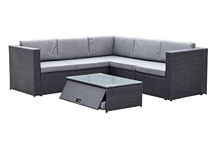 Amazon Com Yeefy Outdoor Patio Furniture Sets Pe Rattan Sectional