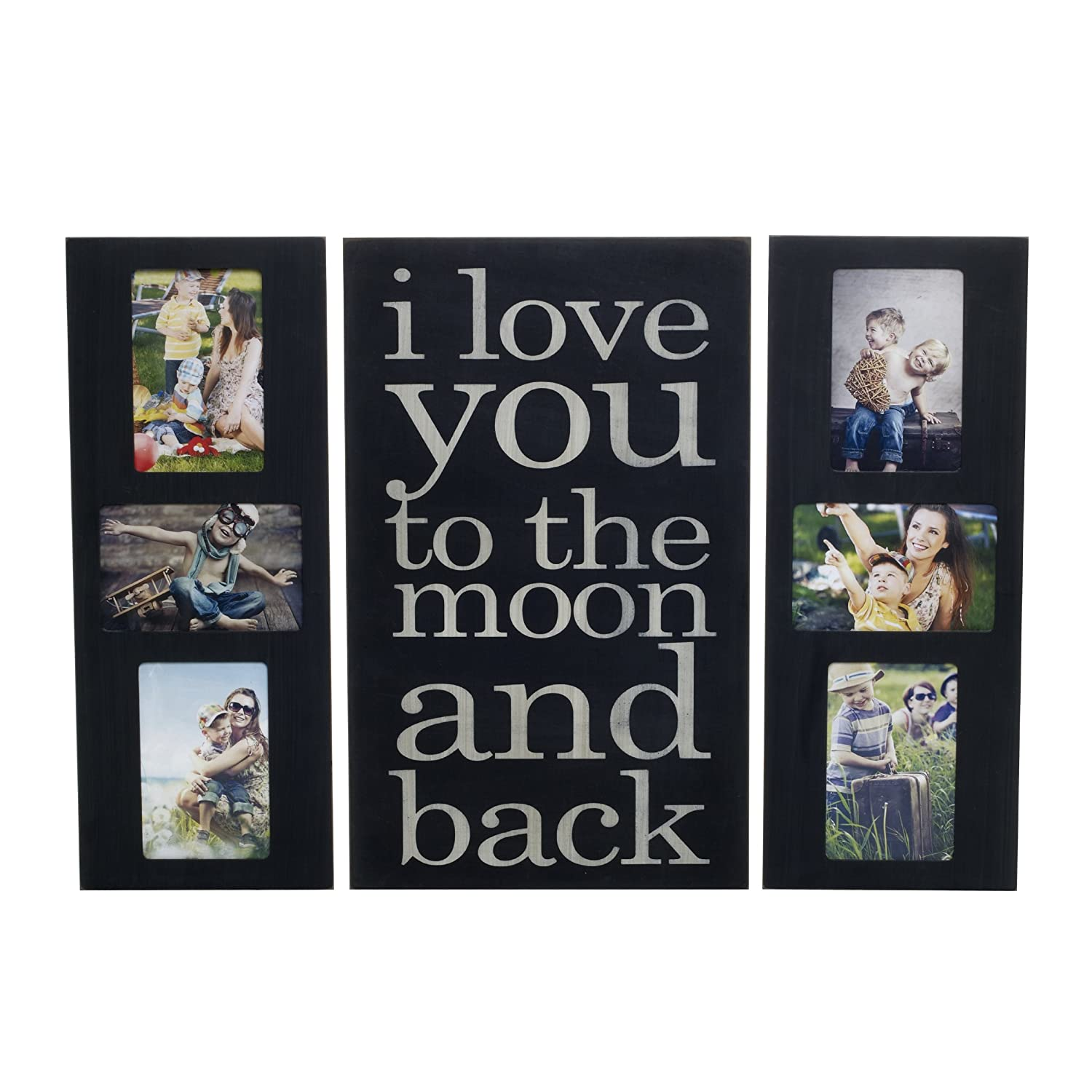 Amazon.com - MELANNCO Collage and Sentiment Plaque Frame Set, Set of 3 -