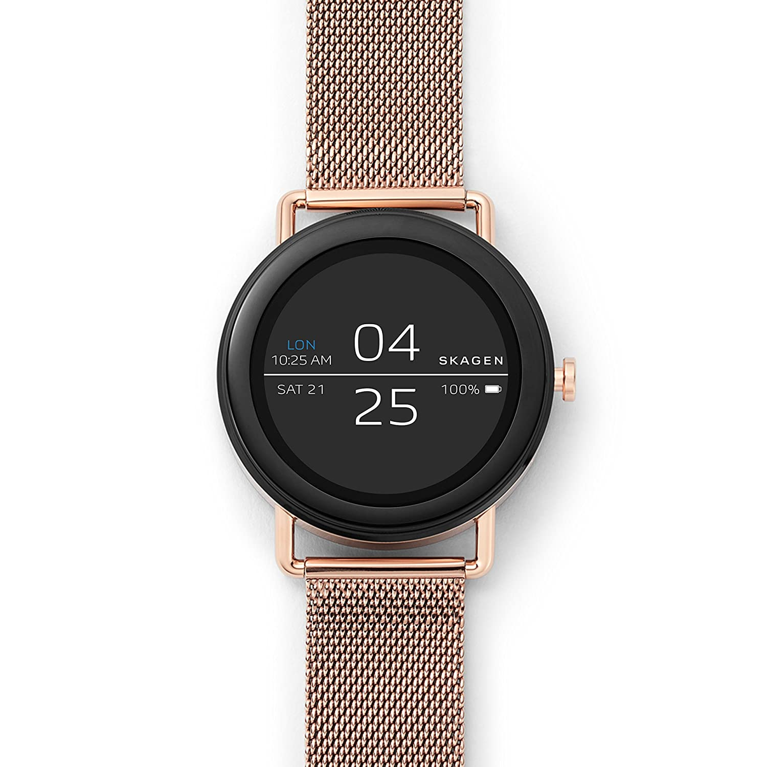 e71619101 Amazon.com: Skagen Connected Falster 1 Stainless Steel Mesh Touchscreen  Smartwatch, Color: Rose Gold-Tone (Model: SKT5002): Watches