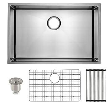 frigidaire undermount stainless steel kitchen sink 10mm radius corners 16 gauge deep basin - Stainless Steel Kitchen Sink Gauge