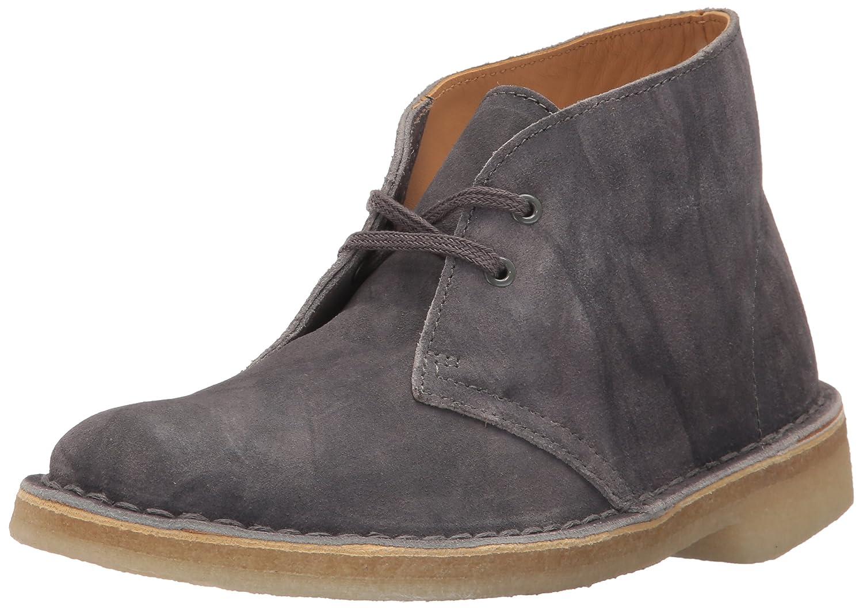 CLARKS Women's Desert Boot Ankle Bootie B01MS1EVMN 9.5 B(M) US|Dark Grey Suede