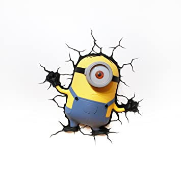 Amazon.Com: 3D Light Fx Despicable Me Minions Stuart 3D Deco Led