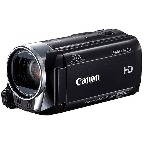 Canon Legria HFR38 Caméscope numérique HD Port SD/SDHC 3,2 Mpix Zoom optique 32x Wifi Mémoire Flash intégré 32 Go Noir