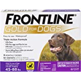 FRONTLINE Gold for Dogs Flea & Tick Treatment, 45-88 lbs, 3ct