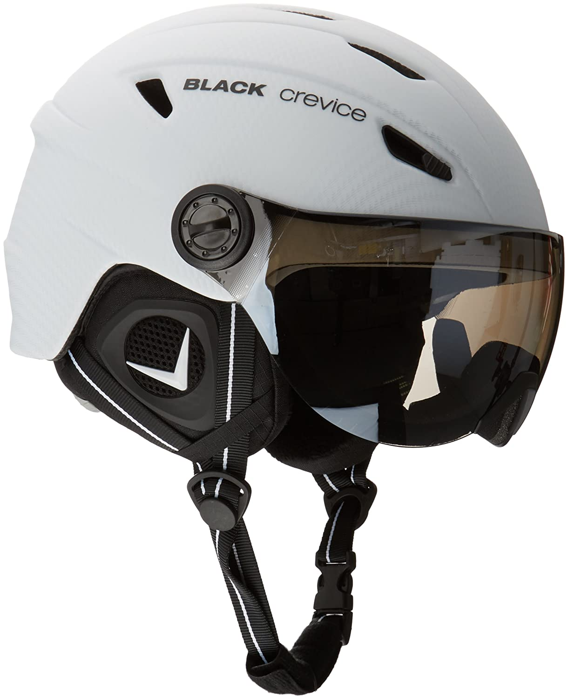 Black crevice adultos casco de esquí