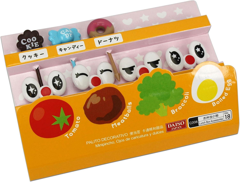 Compra Cute japonés palillos para aperitivos para niños caja de Bento almuerzo – Cartoon Ojos y dulces en Amazon.es