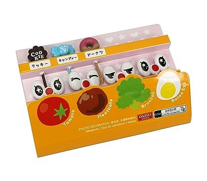 Cute japonés palillos para aperitivos para niños caja de Bento almuerzo – Cartoon Ojos y dulces