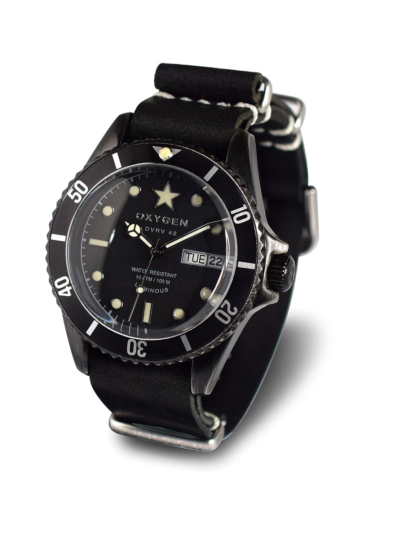 OXYGEN-EX-DV-CAT - 42-NL-BL-Armbanduhr Quarz analog Leder Schwarz