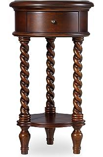 Hooker Furniture 14u0027u0027 Inlay Top Round Accent Table, Maple, Cherry/Chestnut