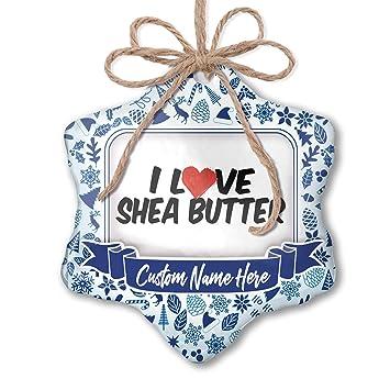 Amazon.com: NEONBLOND Custom Tree Ornament I Love Shea ...